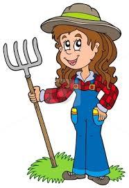 cartoon farm woman