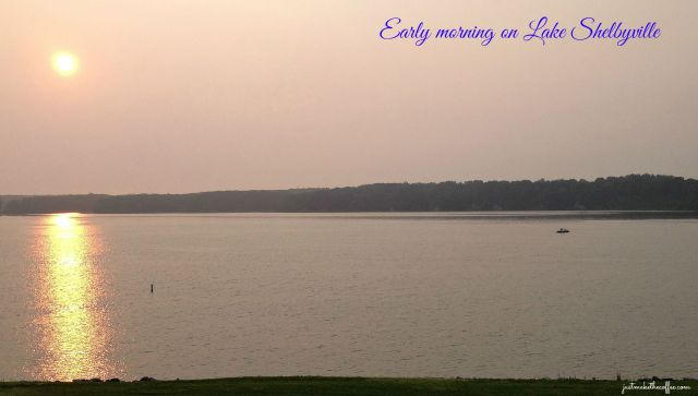 Early am Lake Shelbyville